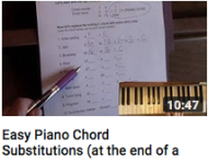 Easy piano chords substitutions
