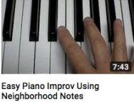 Easy piano improv using neighborhood notes