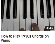 How to play 1950s chords
