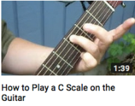 How to play a C scale on guitar