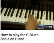 How to play a G blues scale on piano