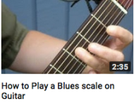 How to play a blues scale on guitar
