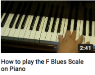 How to play an F blues scale on piano