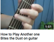 How to play another one bites the dust on guitar