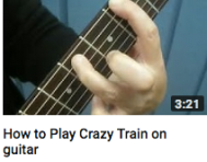 How to play crazy train on guitar