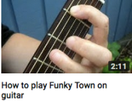 How to play funky town on guitar