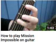 How to play mission impossible on guitar
