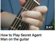 How to play secret agent man on guitar