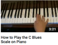 How to play a C blues scale on piano