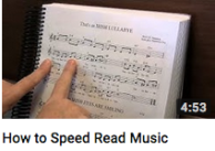 How to speed read music