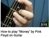 How to play money on guitar