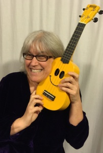 Suz Smiley Uke (photo by Dave Walton)