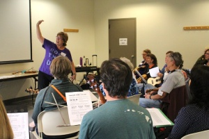 Suz teaching Uke workshop