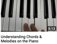 Understanding chords and melodies