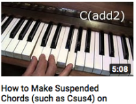 How to Make Suspended Chords on Piano